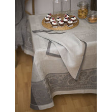 Load image into Gallery viewer, Gray Gramercy Tablecloth Castor Grey