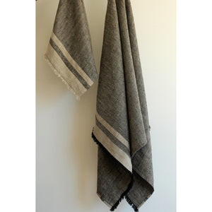 Dim Gray Lipari Bath Towel