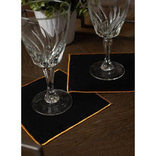 Load image into Gallery viewer, Black Duet Cocktail Napkins (Set of 4)