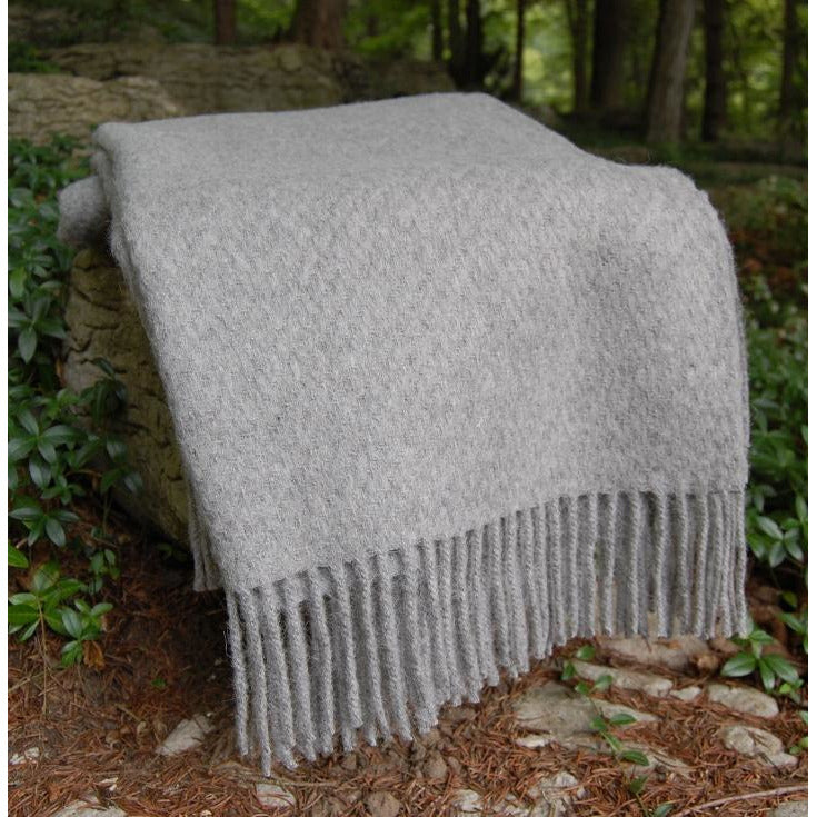 Dark Gray Cork Throw