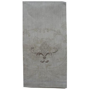 Light Slate Gray Embroidered Pineapple Hand Towel