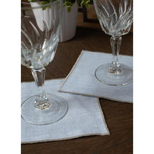 Load image into Gallery viewer, Dark Gray Duet Cocktail Napkins (Set of 4)
