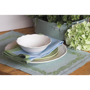 Light Steel Blue Leaves of Italy Placemats (Set of 4)