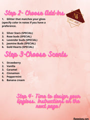 Step 2, 3 and 4 to create a custom lipgloss