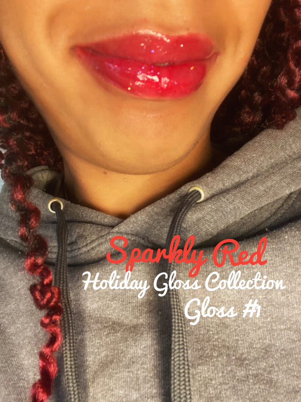 Spkarly Red Glitter Color Lipgloss