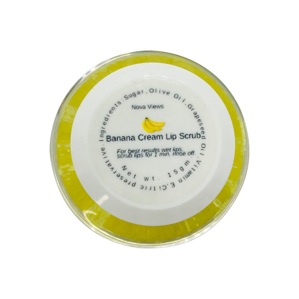 Banana Cream Sugar Lip Scrub-Nova Views