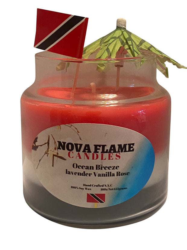 Nova Flame Candles (Ocean Breeze Lavender Vanilla Rose)