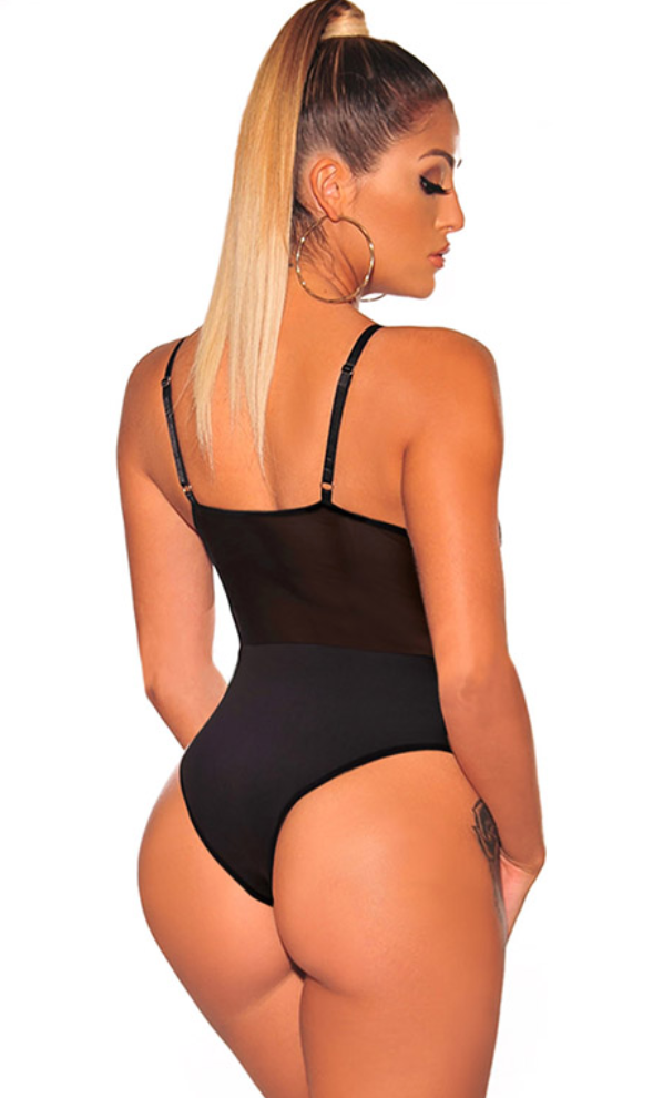 Black Lace Bodysuit (Back)