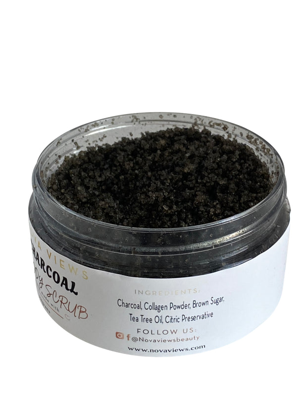 Charcoal Body Sugar Scrub Ingredients