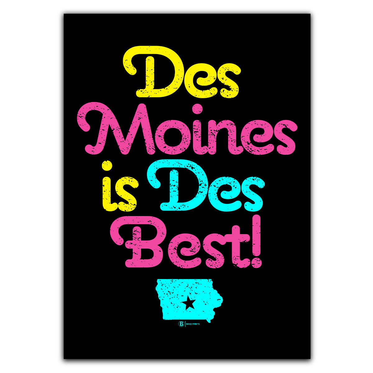 Des Moines is Des Best Greeting Card