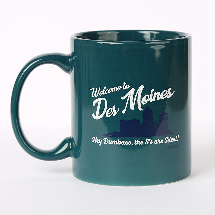 Des Moines The S's Are Silent Mug