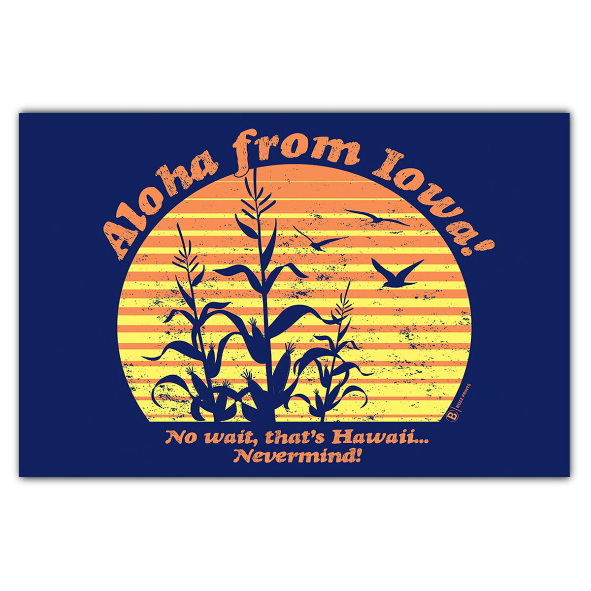 Aloha From Iowa Postcard