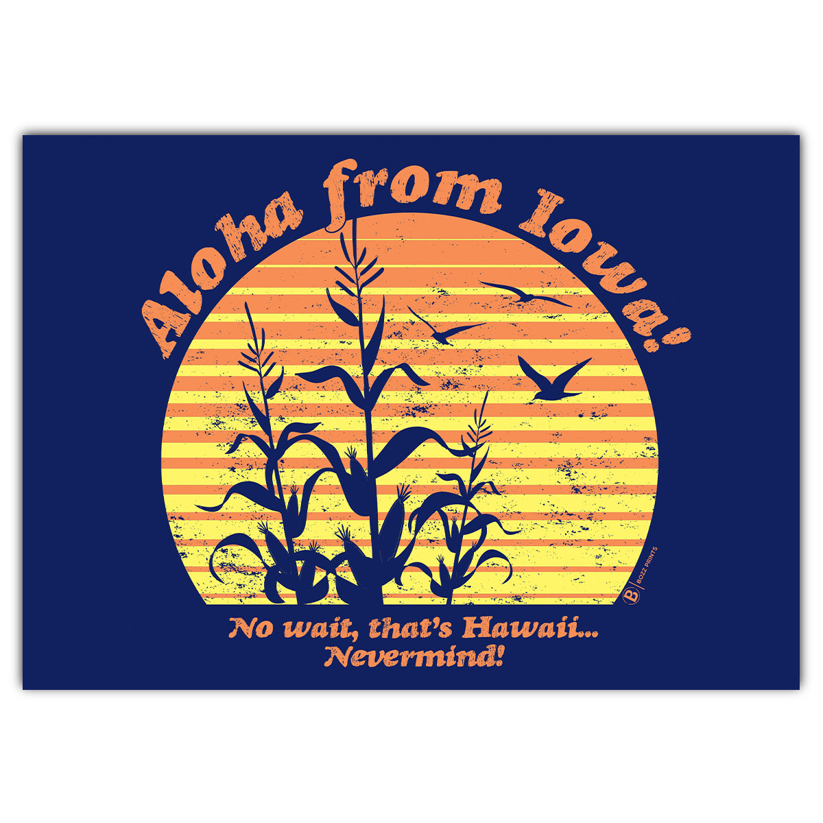 Aloha From Iowa Greeting Card