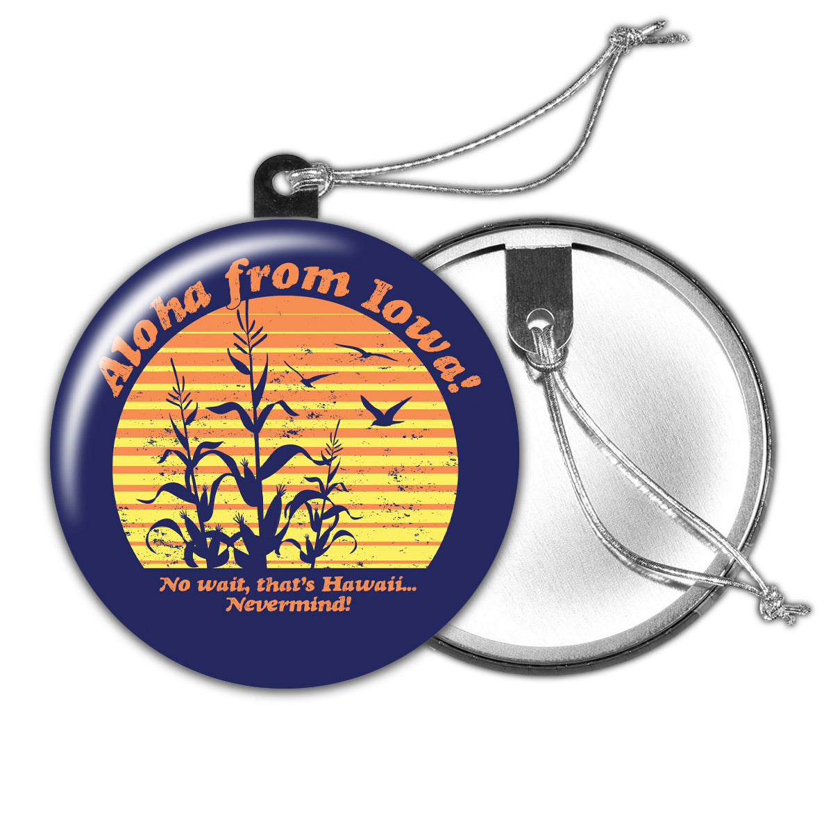Aloha from Iowa Holiday Ornament