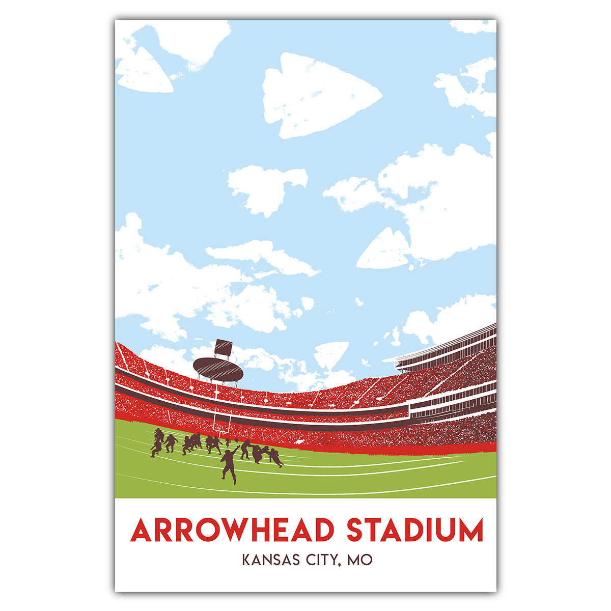 Arrowhead Stadium Postcard