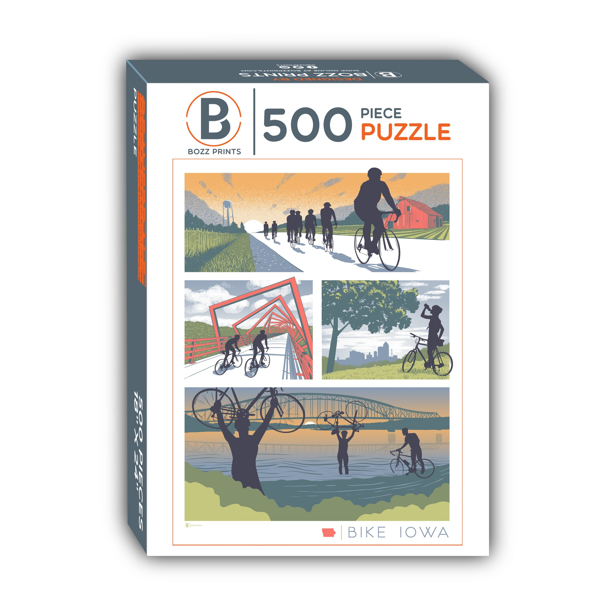 Bike Iowa Jigsaw Puzzle