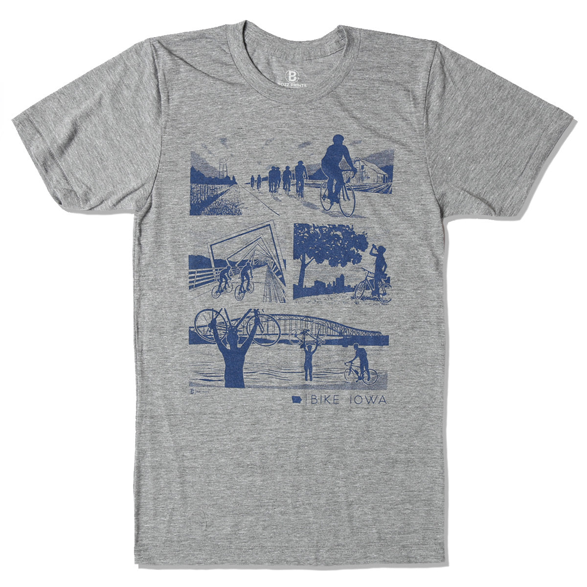Bike Iowa Grey T-Shirt