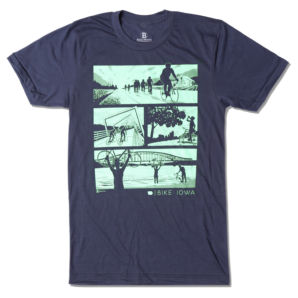 Bike Iowa Navy T-Shirt
