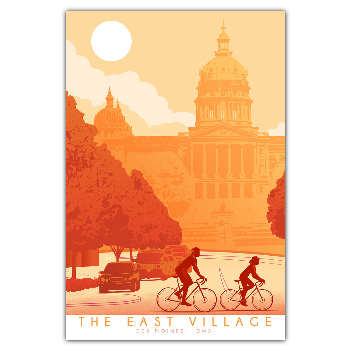 Bike East Village Postcard