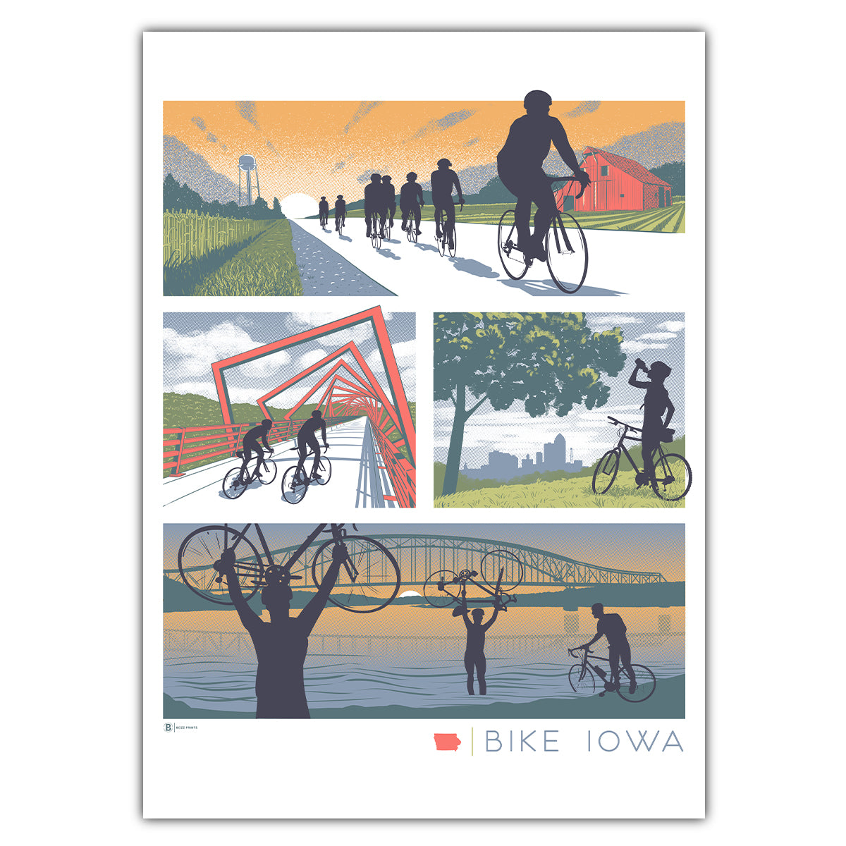 Bike Iowa Greeting Card