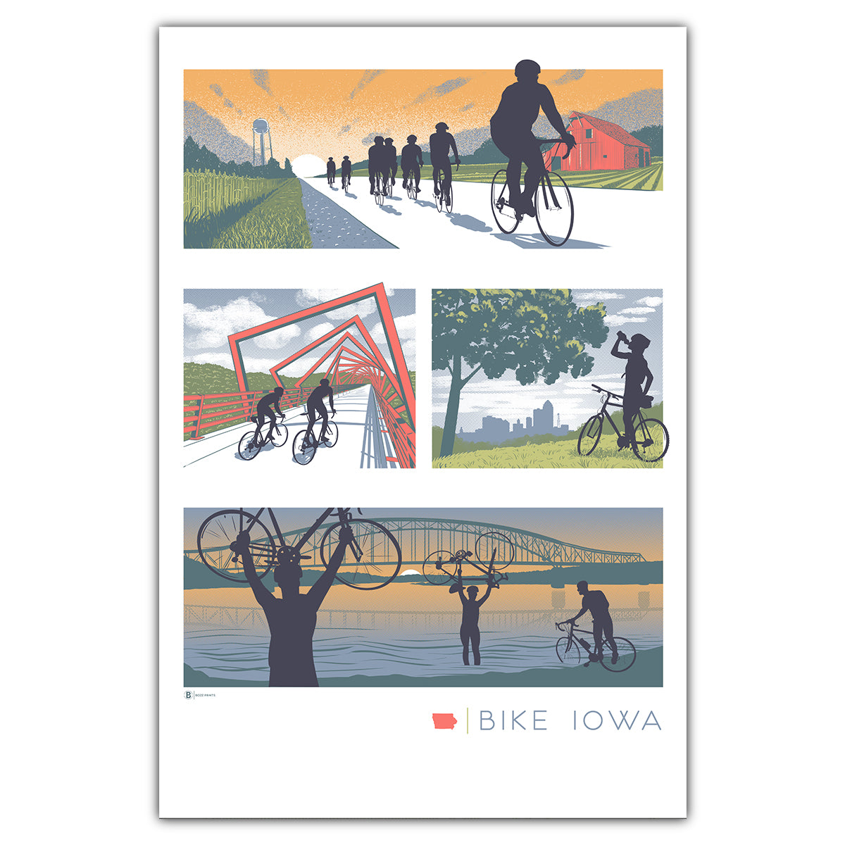 Bike Iowa Postcard