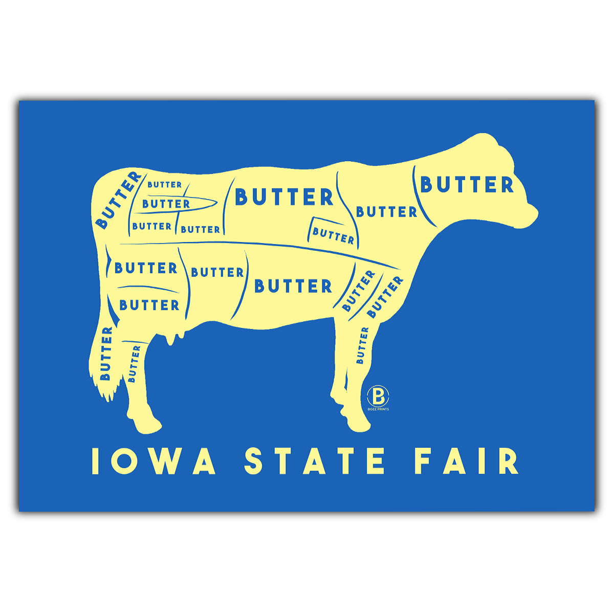 Iowa State Fair Butter Cow Greeting Card