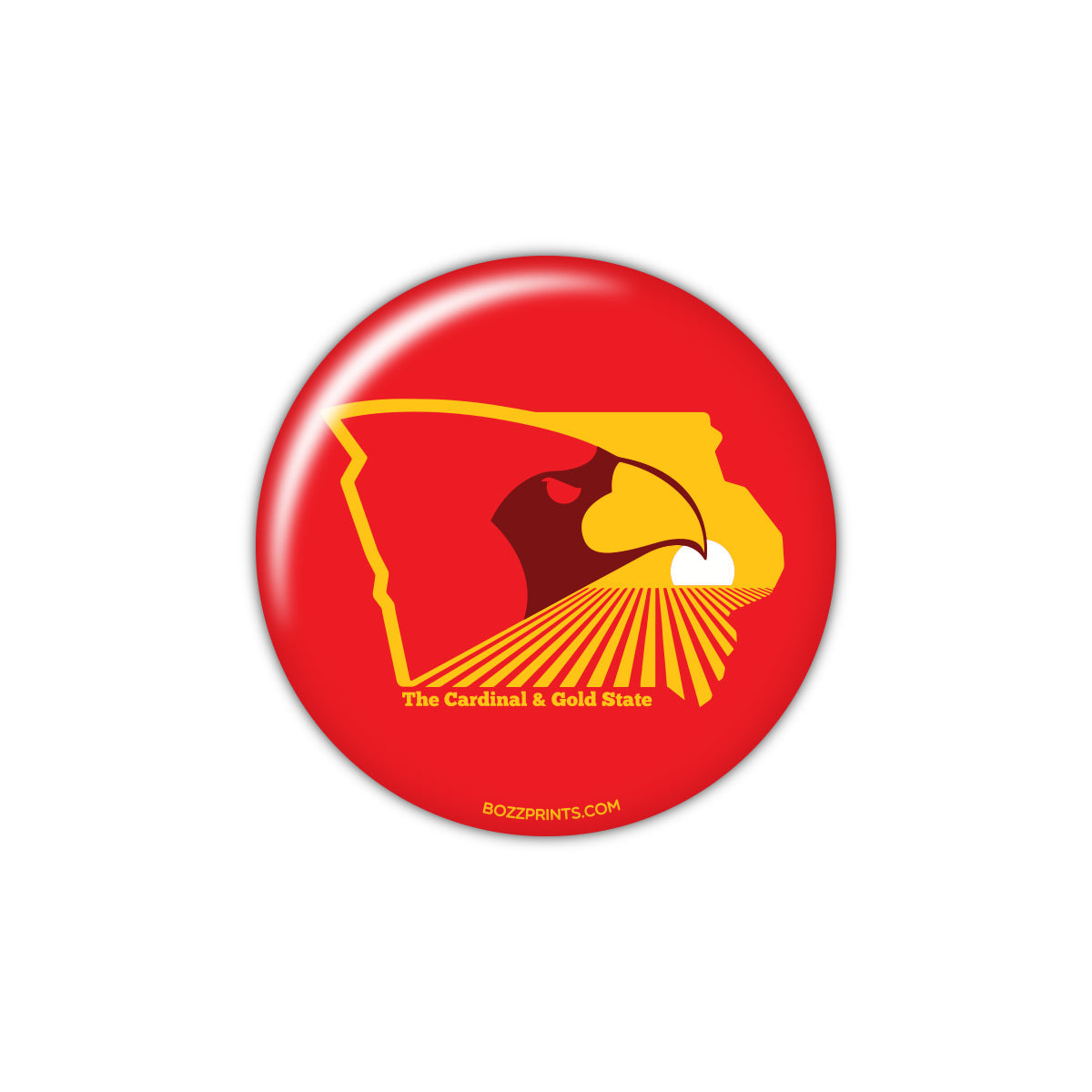 The Cardinal and Gold State Button