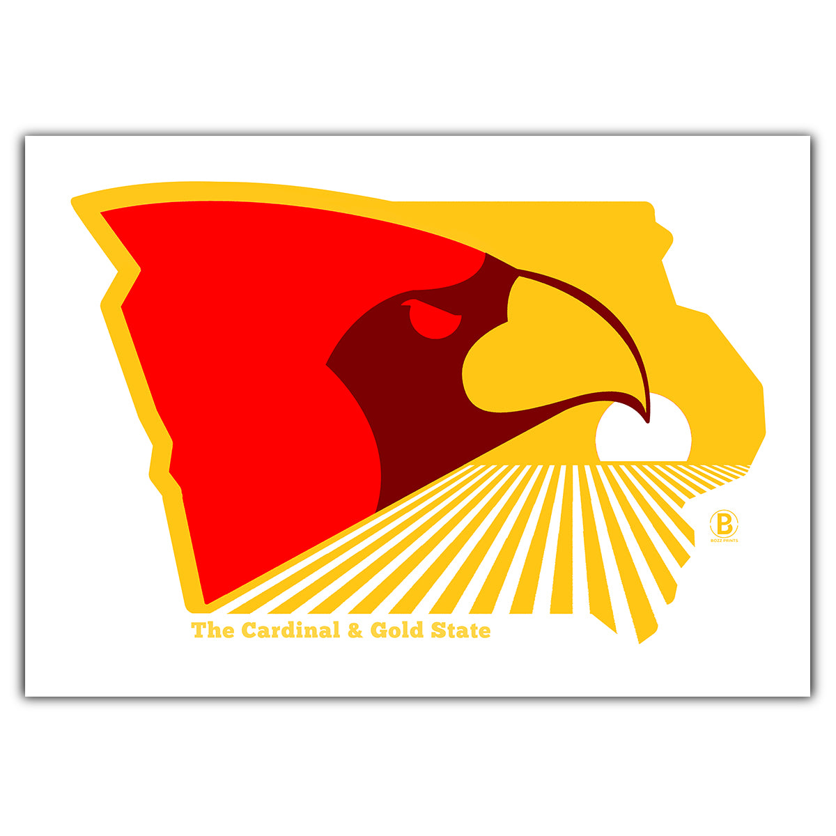 The Cardinal and Gold State Greeting Card