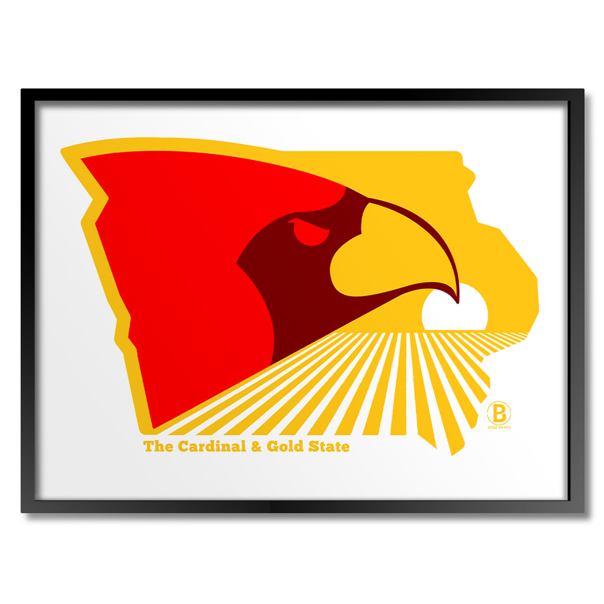 The Cardinal & Gold State Print
