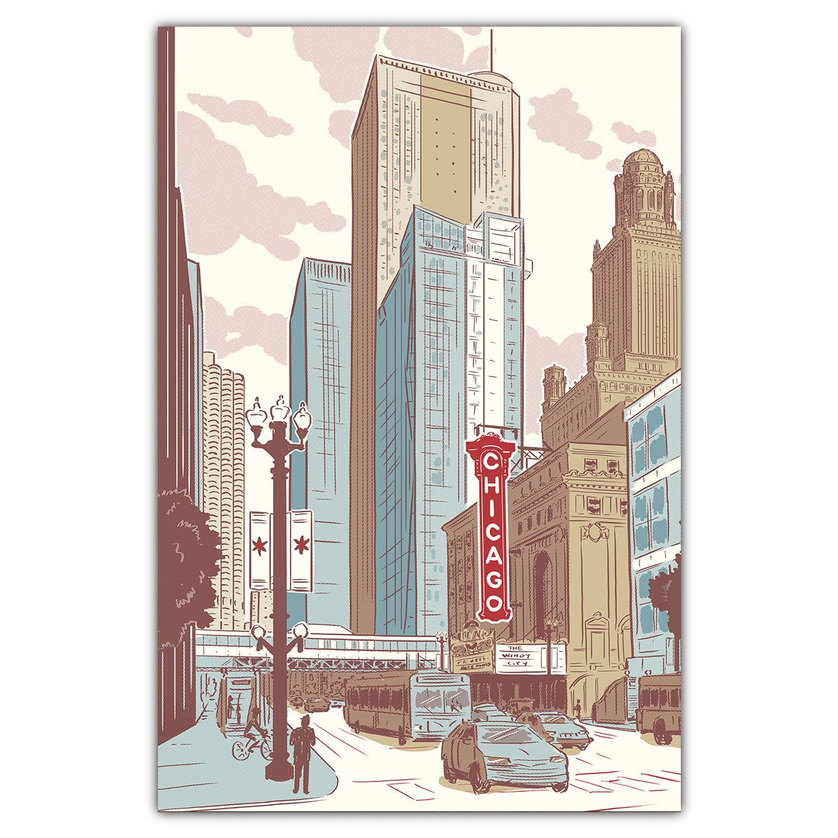 Chicago Loop Postcard