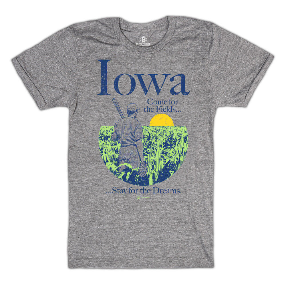 Iowa Come for the Fields T-Shirt