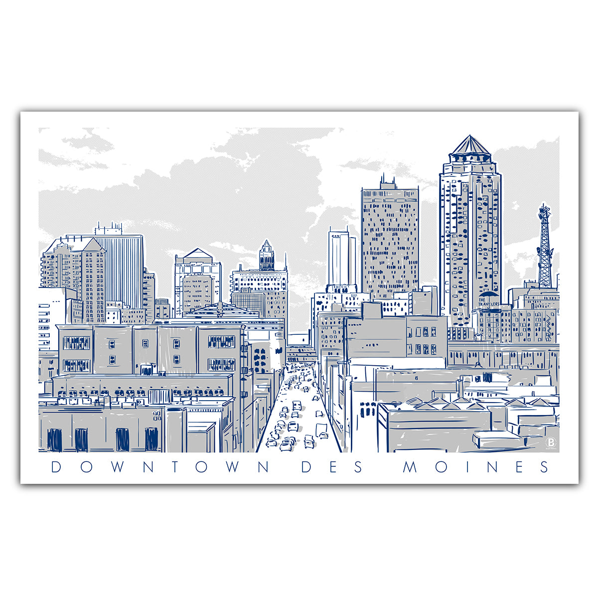 Downtown Des Moines Postcard