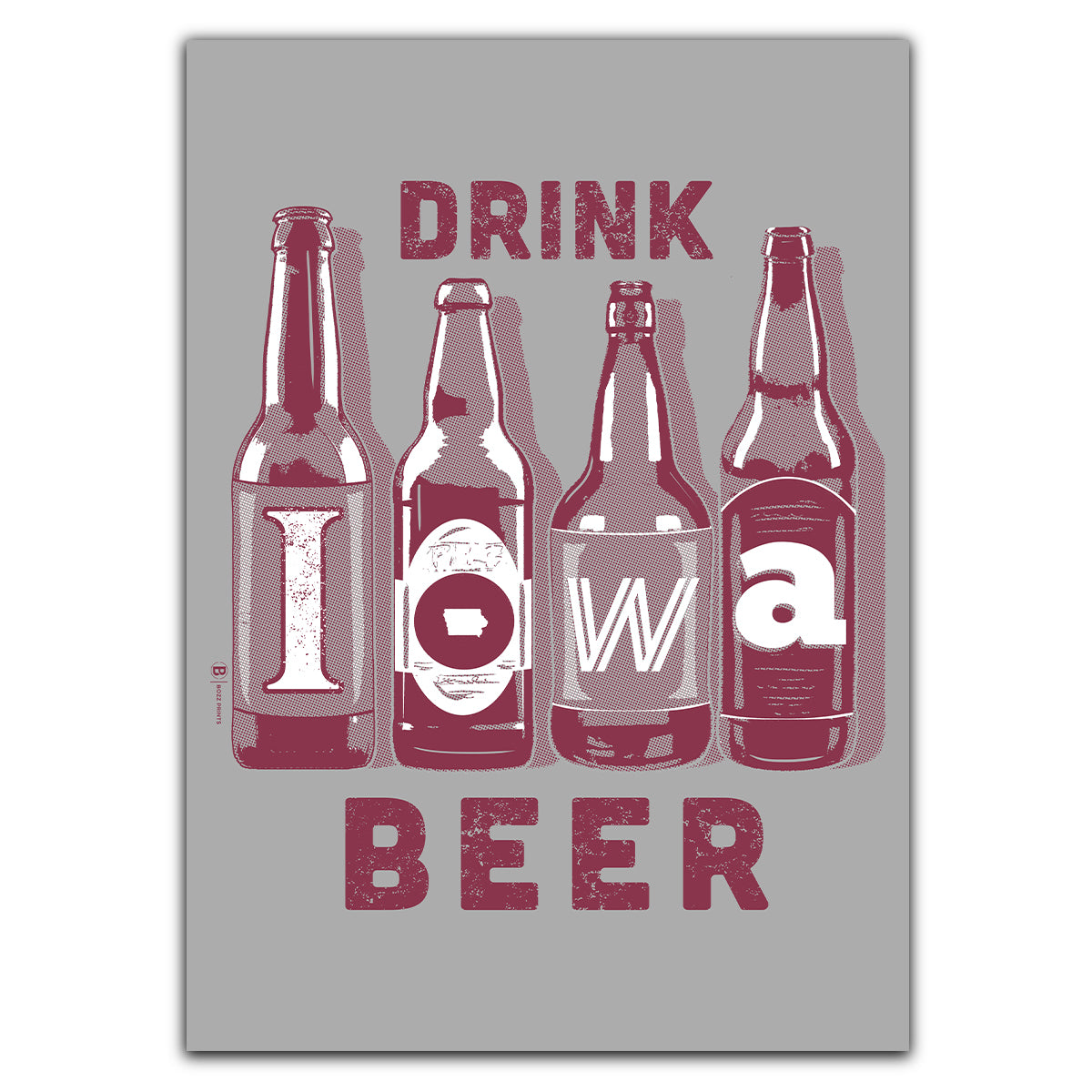 Drink Iowa Beer Greeting Card