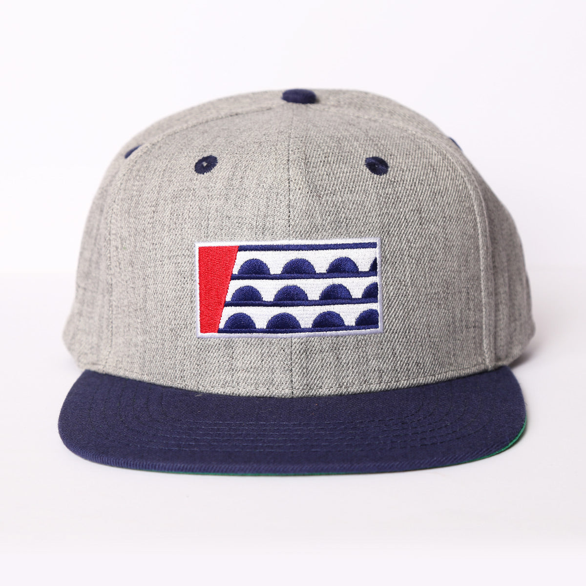 Des Moines Flag Navy/Grey Snapback Hat