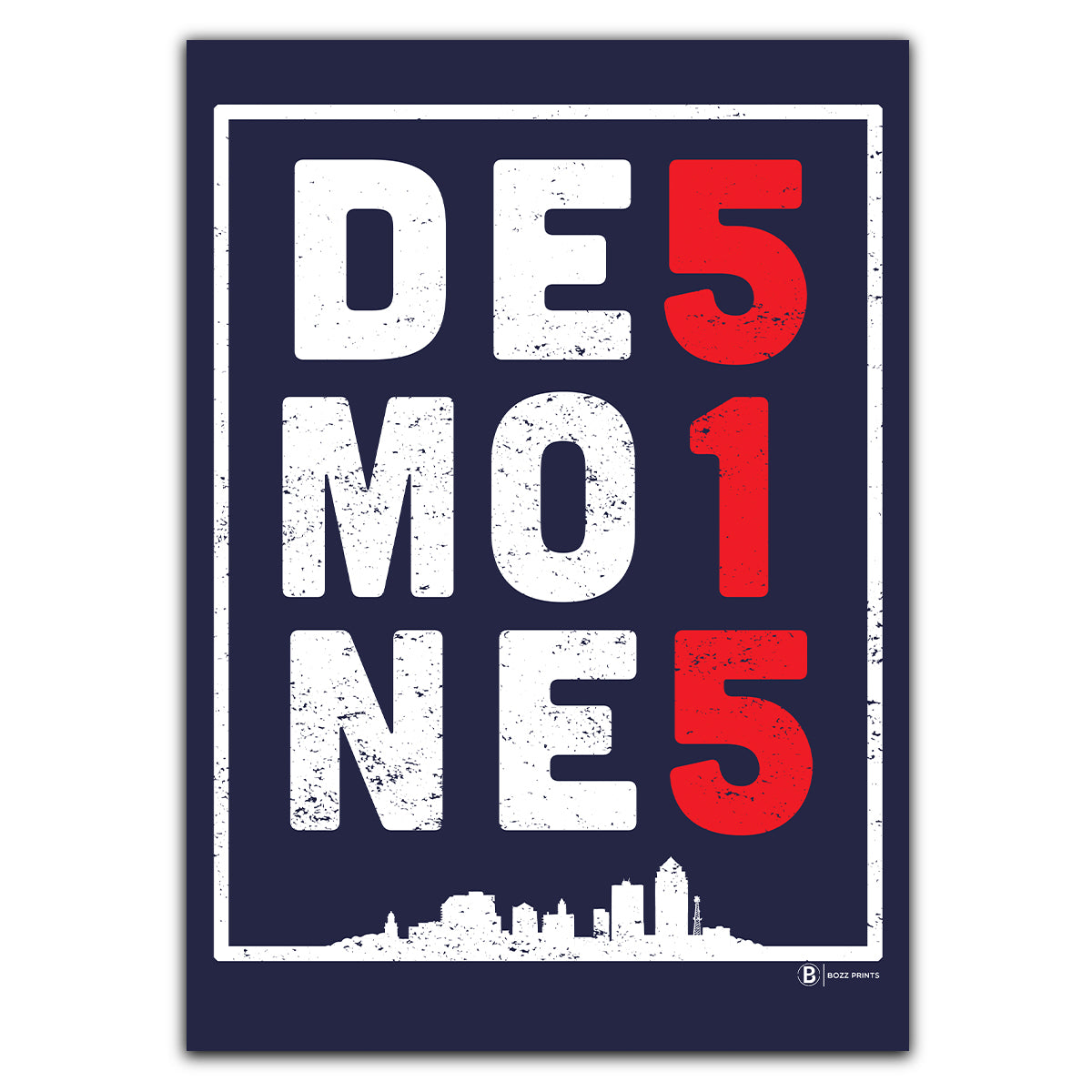 Des Moines 515 Greeting Card