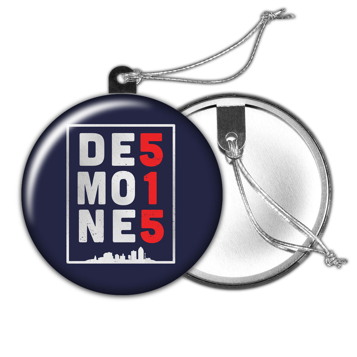 Des Moines 515 Holiday Ornament