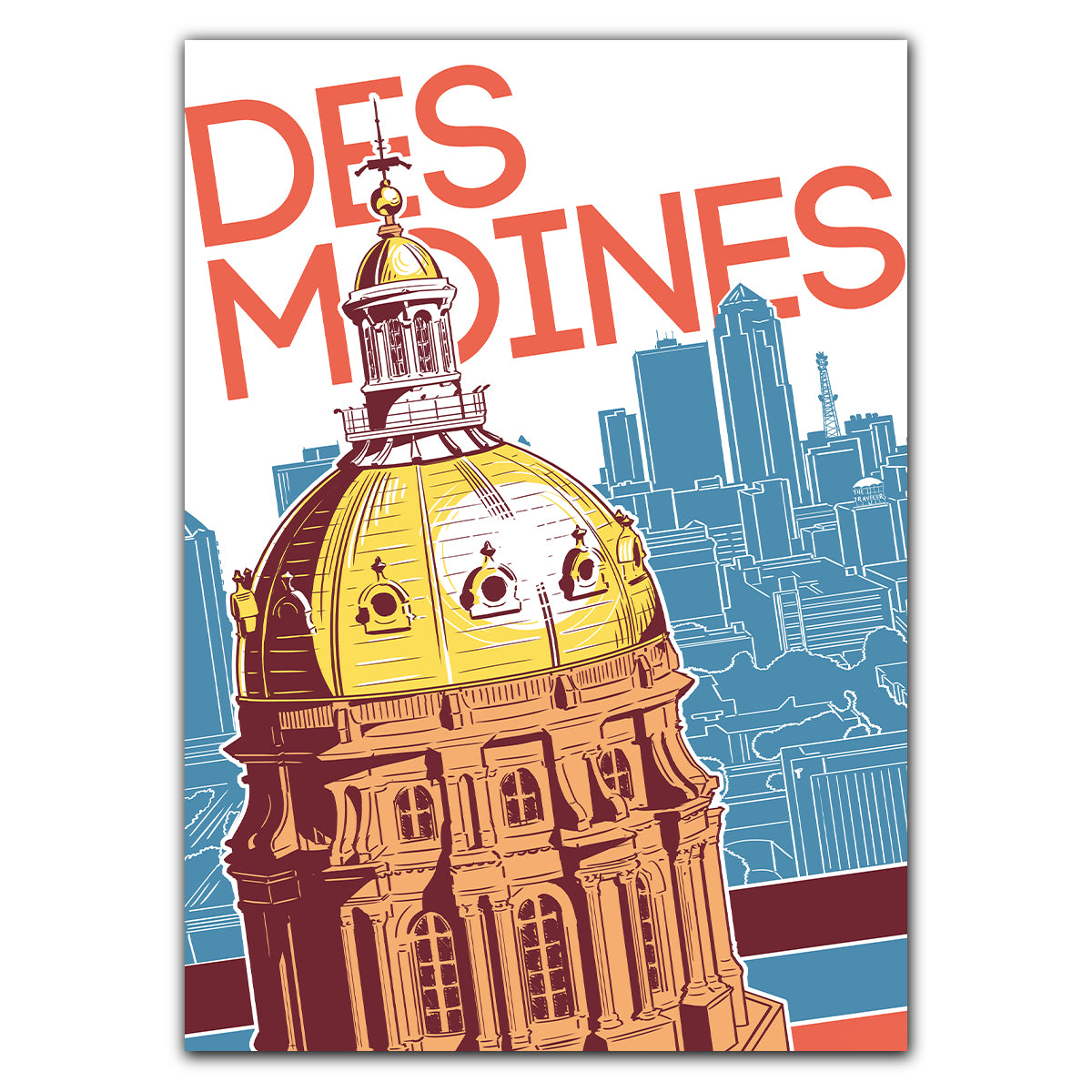 Des Moines Capitol Greeting Card