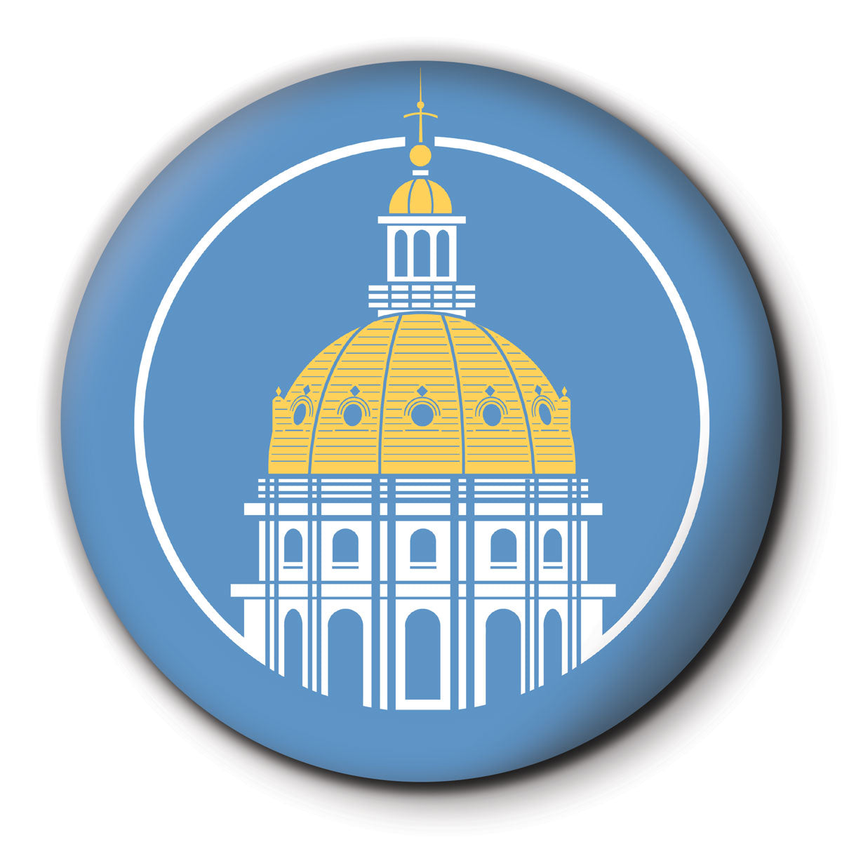 Des Moines Capitol Icon Round Coaster