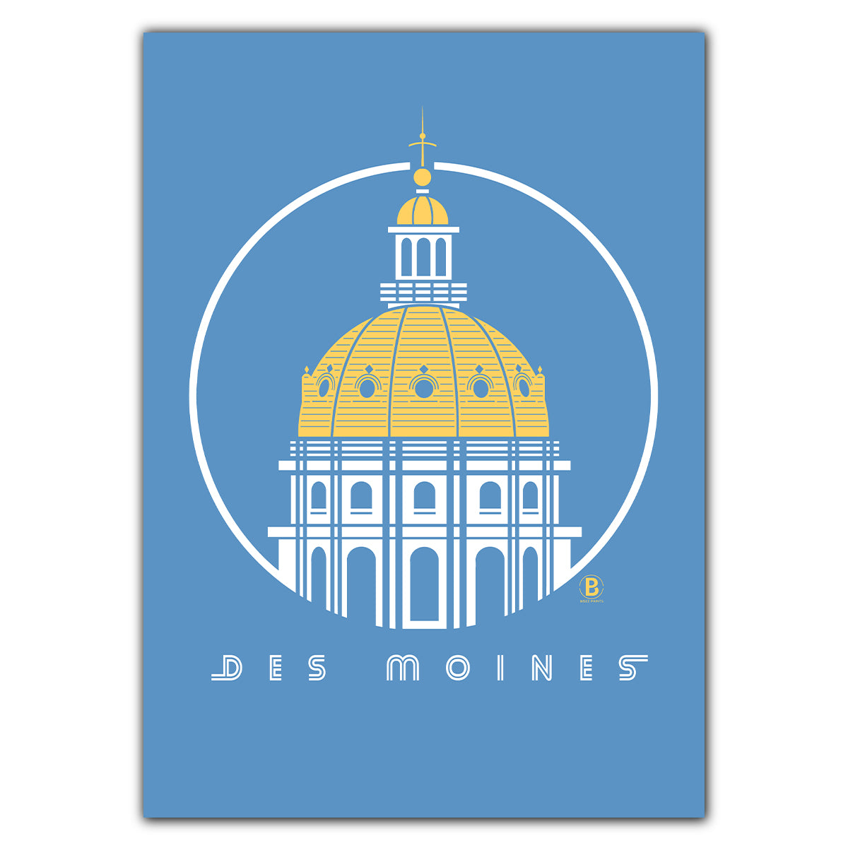 Des Moines Capitol Icon Greeting Card