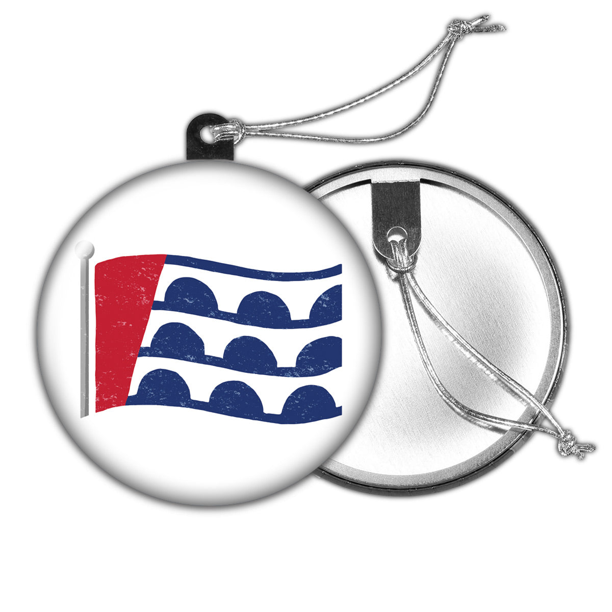 Des Moines Flag Holiday Ornament