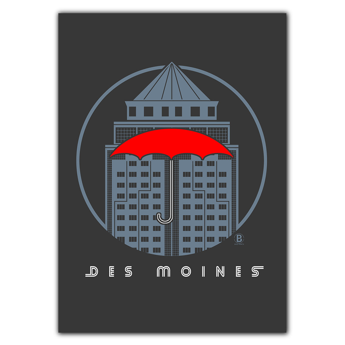 Des Moines Grand Avenue Icon Greeting Card