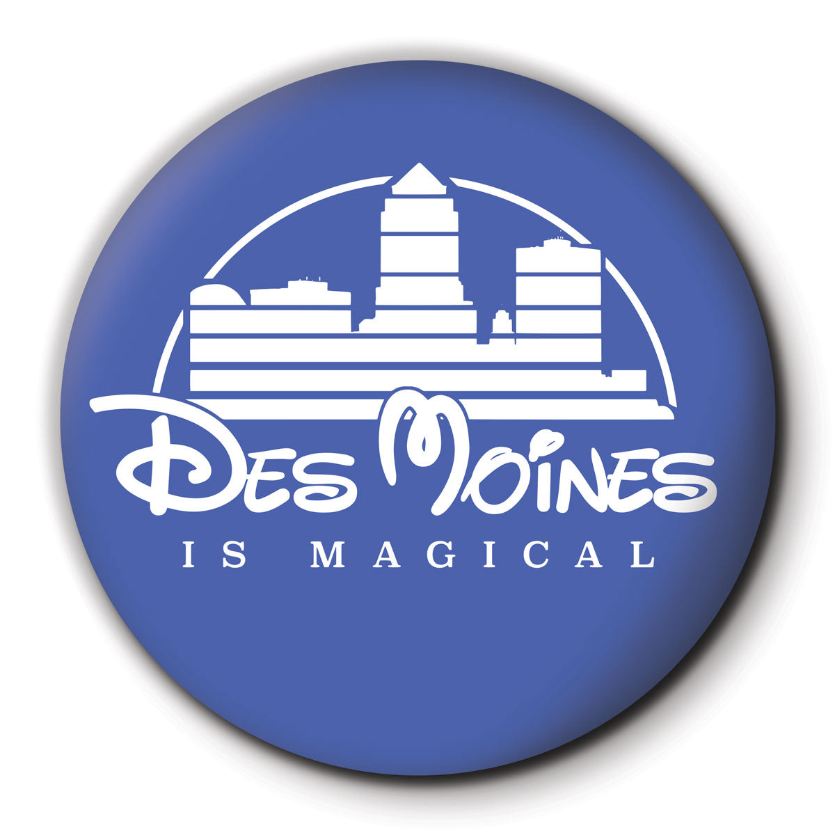 Des Moines is Magical Round Coaster