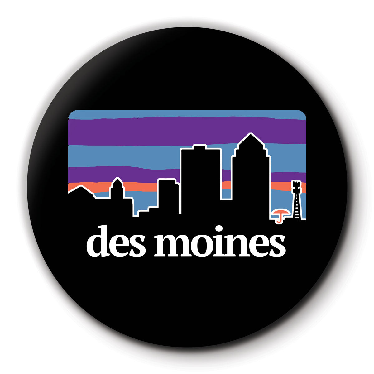Des Moines Outdoors Round Coaster