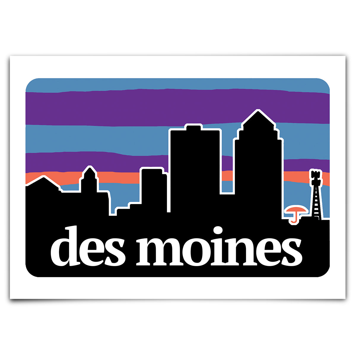 Des Moines Outdoors Greeting Card