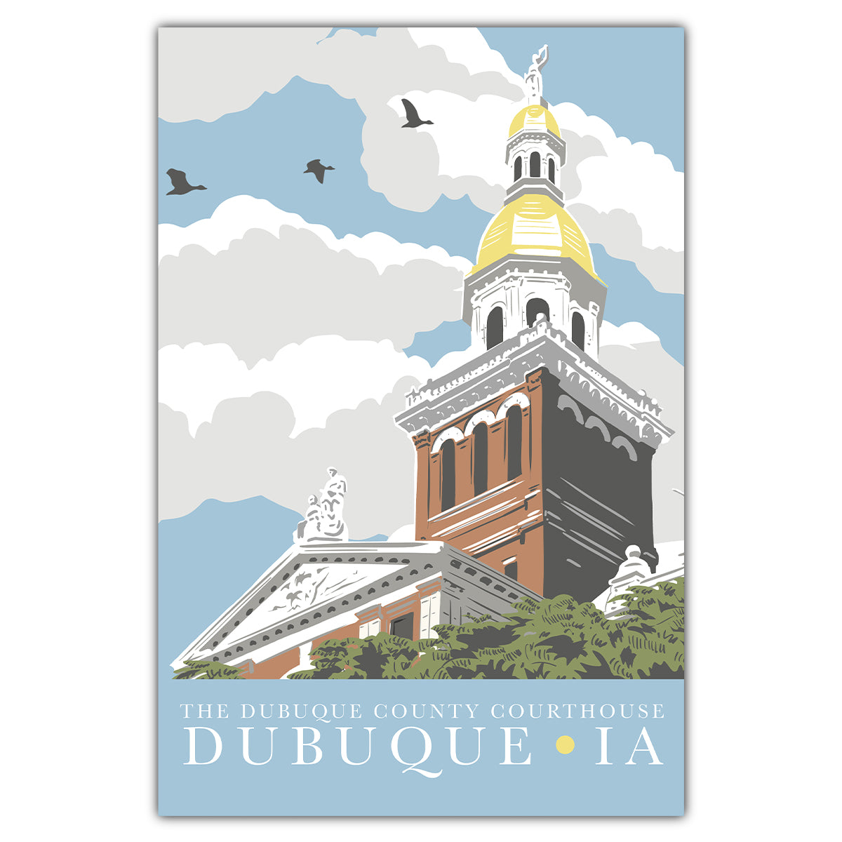 Dubuque Courthouse Postcard