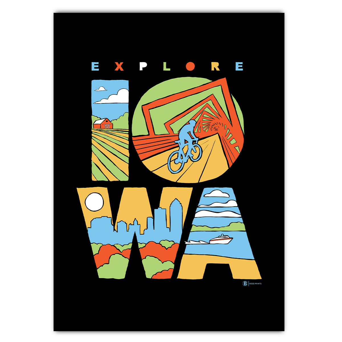 Explore Iowa Greeting Card