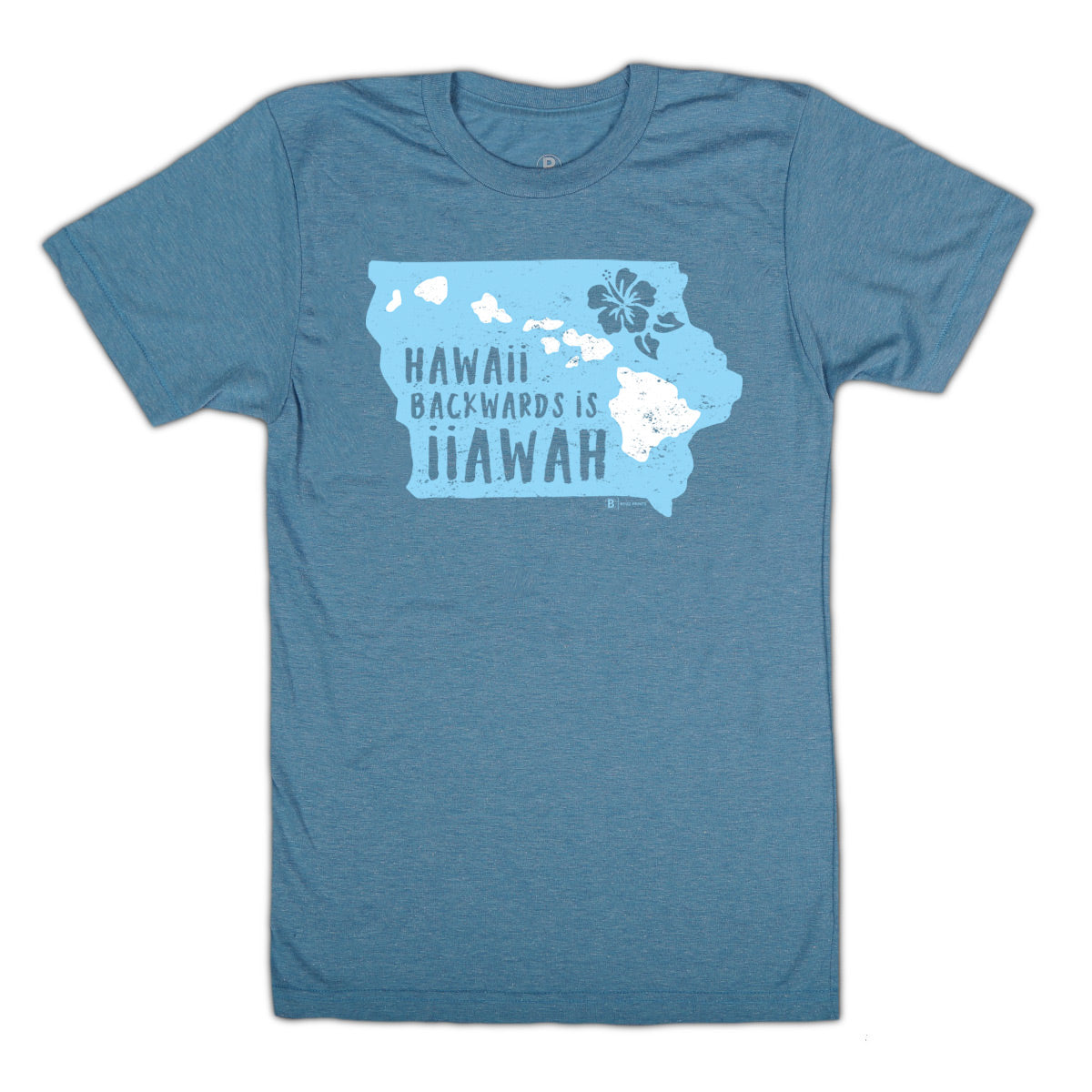 Hawaii Backwards is Iiawah Ocean Blue T-Shirt
