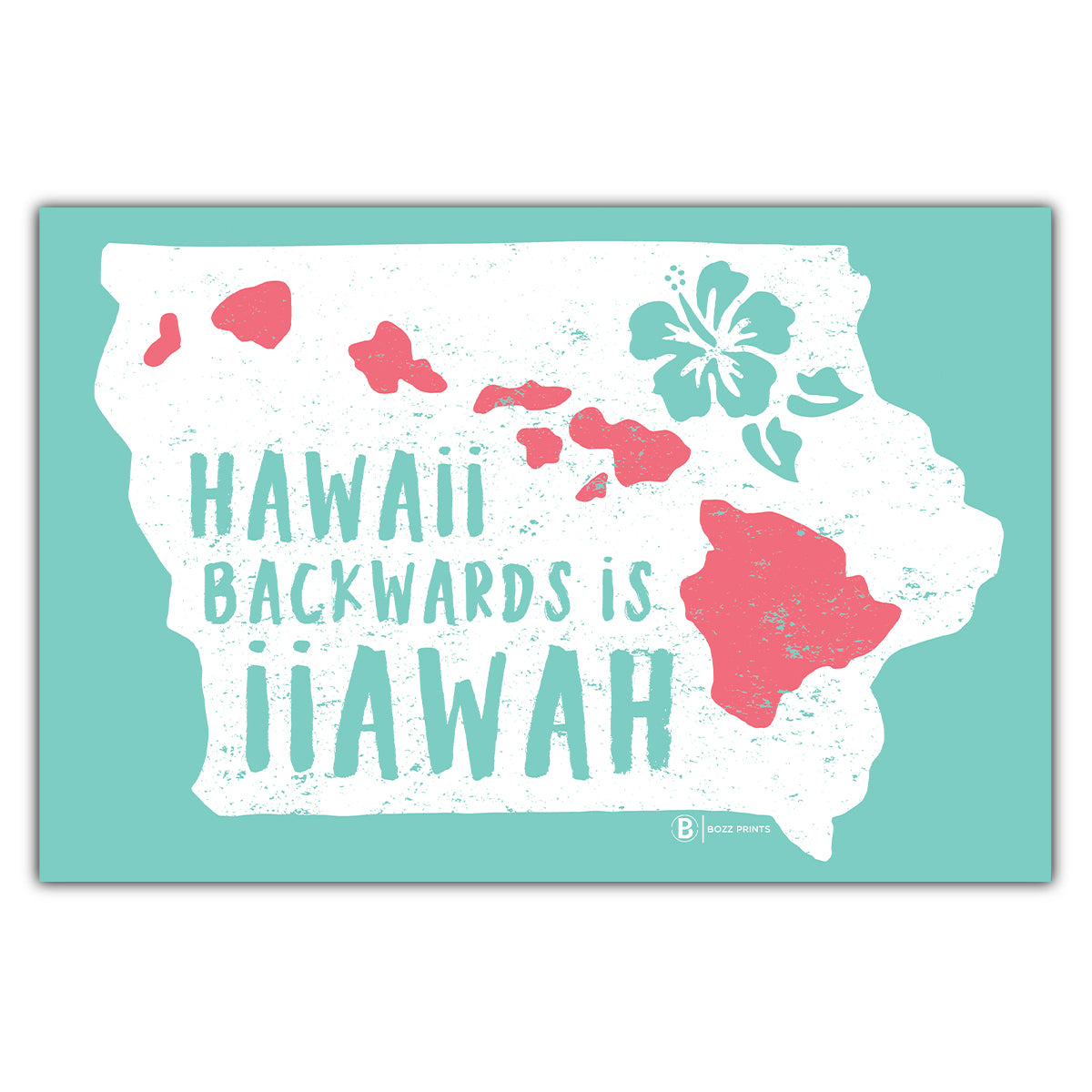 Hawaii Backwards is iiawaH Postcard