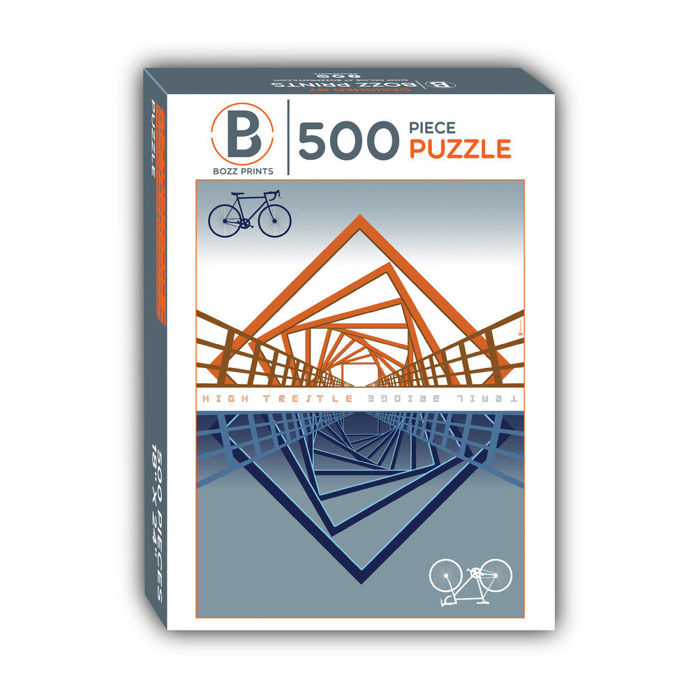 High Trestle Trail Bridge Jigsaw Puzzle