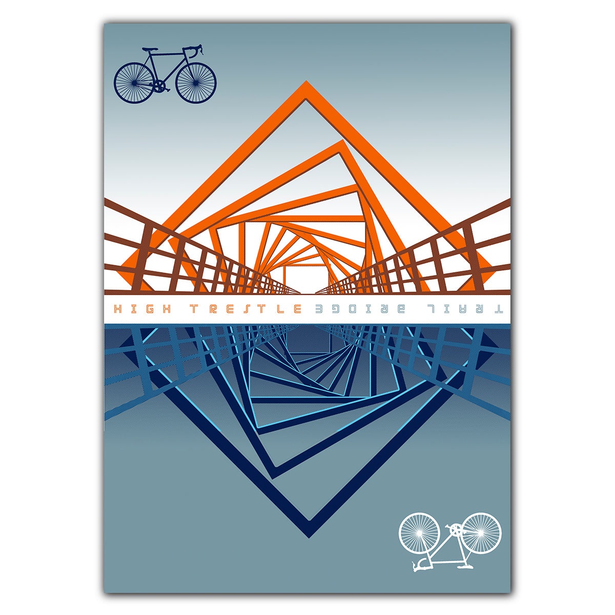High Trestle Bridge Greeting Card